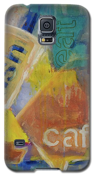 Galaxy S5 Case featuring the painting Fish Cafe by Susan Stone