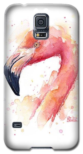 Flamingo Galaxy S5 Case - Flamingo Watercolor  by Olga Shvartsur