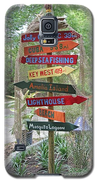 Galaxy S5 Case featuring the photograph Florida Crossroads II by Dodie Ulery