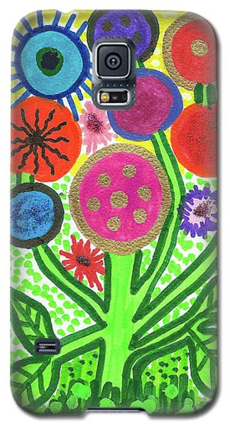 Flowers In The Round 9.7 Galaxy S5 Case