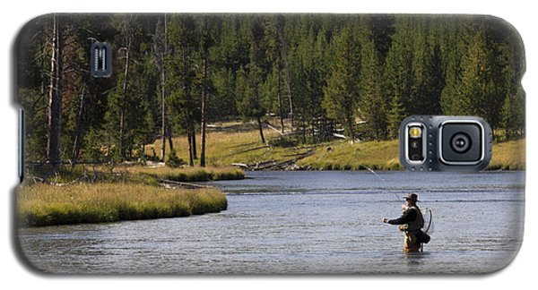 Fly Fishing In The Firehole River Yellowstone Galaxy S5 Case