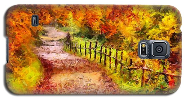 Fall Foliage Path 2 Galaxy S5 Case