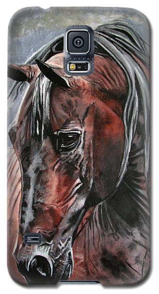 Galaxy S5 Case featuring the painting Forever by Melita Safran