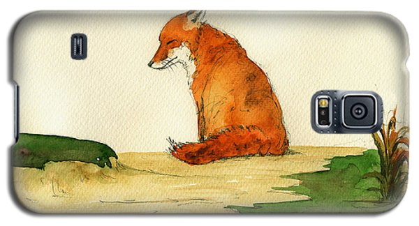 Fox Sleeping Painting Galaxy S5 Case by Juan  Bosco