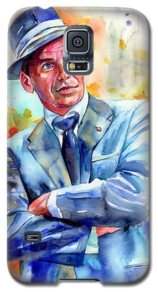 Fairy Galaxy S5 Case - Frank Sinatra Young Painting by Suzann's Art