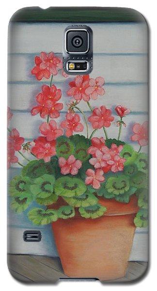 Front Porch Geraniums Galaxy S5 Case