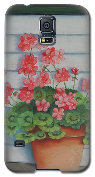 Front Porch Geraniums Galaxy S5 Case