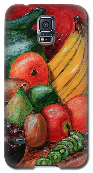 Galaxy S5 Case featuring the painting Fruit And Pitcher by Melvin Turner