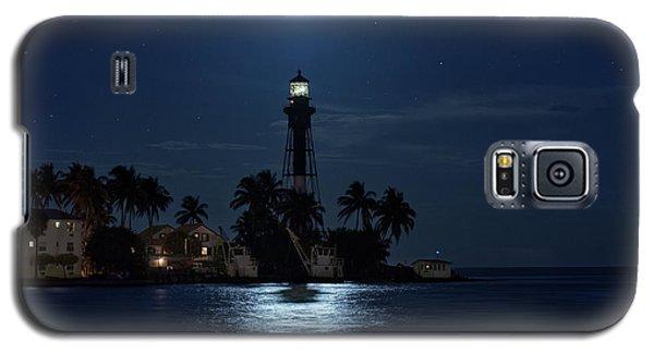 Full Moon Over Hillsboro Lighthouse In Pompano Beach Florida Galaxy S5 Case
