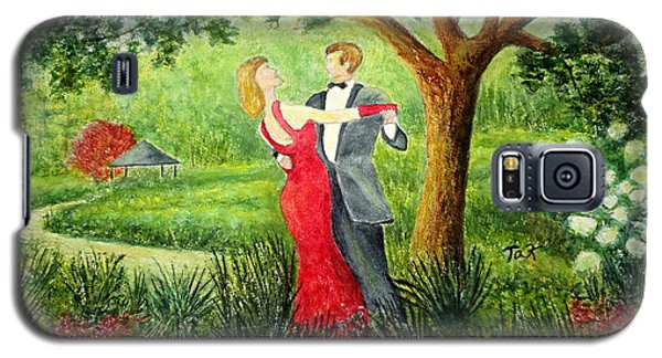 Galaxy S5 Case featuring the painting Garden Party by Thomas Kuchenbecker