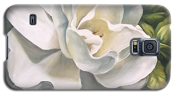 Galaxy S5 Case featuring the painting Gardenia by Natalia Tejera