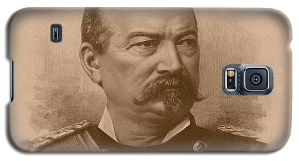 Galaxy S5 Case featuring the drawing General Philip Sheridan by War Is Hell Store