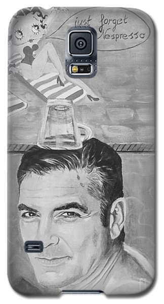 Galaxy S5 Case featuring the painting George Clooney by Jeepee Aero