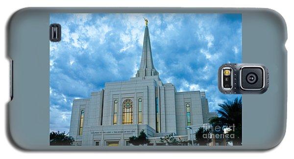 Gilbert Arizona Lds Temple Galaxy S5 Case by Nick Boren