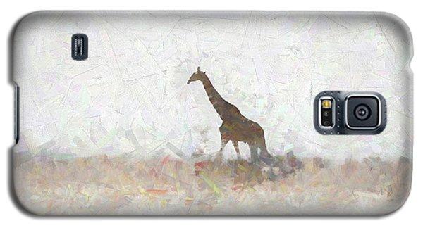 Giraffe Abstract Galaxy S5 Case by Ernie Echols