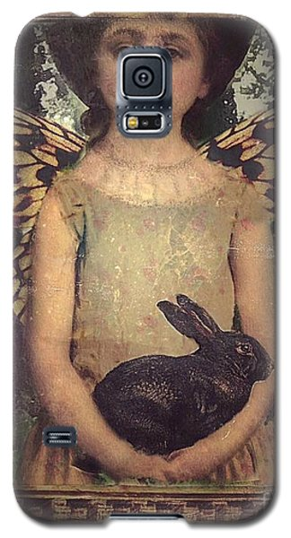 Galaxy S5 Case featuring the digital art Girl In The Garden by Alexis Rotella