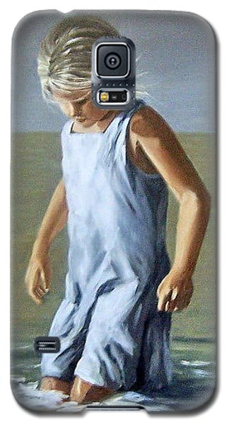 Galaxy S5 Case featuring the painting Girl by Natalia Tejera