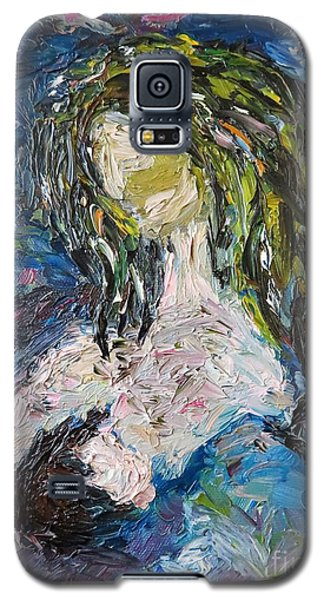 Galaxy S5 Case featuring the painting God Bless The Baby by Reina Resto
