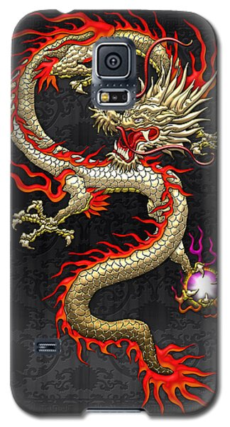 Golden Chinese Dragon Fucanglong  Galaxy S5 Case by Serge Averbukh
