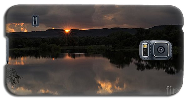 Galaxy S5 Case featuring the photograph Golden Sunset by Melany Sarafis