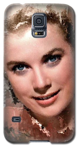 Grace Kelly, Vintage Hollywood Actress Galaxy S5 Case by Mary Bassett