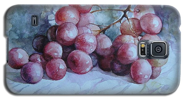 Galaxy S5 Case featuring the painting Grapes... by Elena Oleniuc