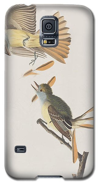 Great Crested Flycatcher Galaxy S5 Case by John James Audubon