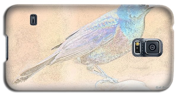 Galaxy S5 Case featuring the digital art Great Tailed Grackle by A Gurmankin