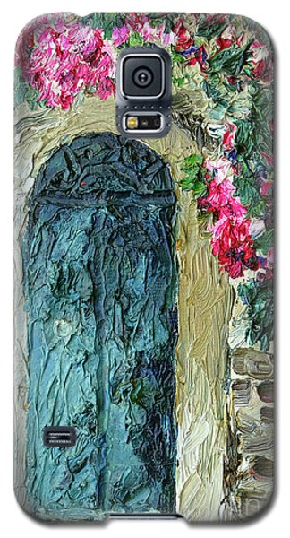Green Italian Door With Flowers Galaxy S5 Case