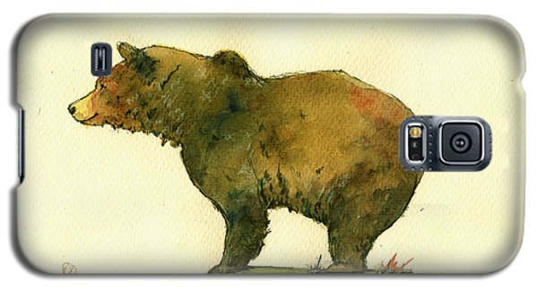 Bear Galaxy S5 Case - Grizzly Bear Watercolor Painting by Juan  Bosco
