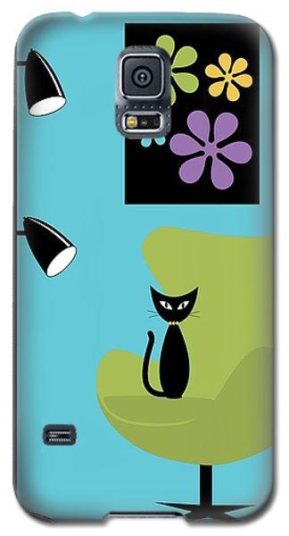 Groovy Flowers In Blue Galaxy S5 Case