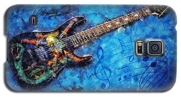 Galaxy S5 Case featuring the digital art Guitar Love by Ian Mitchell