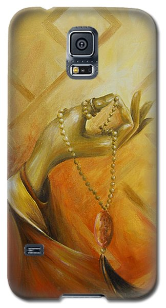 Galaxy S5 Case featuring the painting Gyan Mudra by Dina Dargo