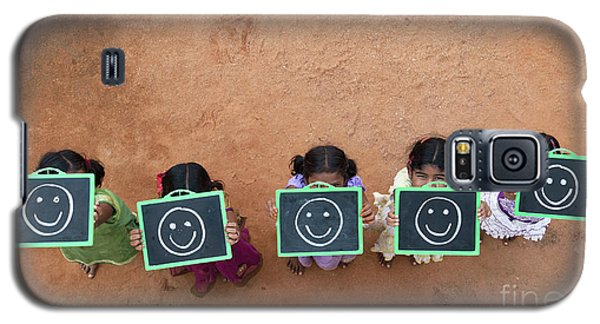 Galaxy S5 Case featuring the photograph Happy Smiley Faces by Tim Gainey