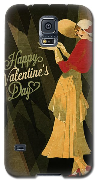 Galaxy S5 Case featuring the digital art Happy Valentines Day by Jeff Burgess