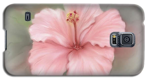 Galaxy S5 Case featuring the painting Hibiscus  by Bonnie Willis