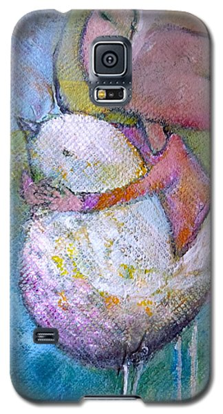 Galaxy S5 Case featuring the painting Hold Your Peace by Eleatta Diver