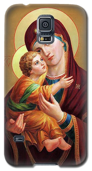 Religious Galaxy S5 Case - Holy Mother Of God - Blessed Virgin Mary by Svitozar Nenyuk
