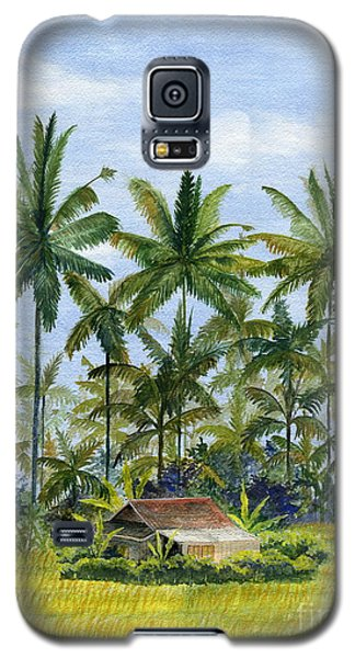 Galaxy S5 Case featuring the painting Home Bali Ubud Indonesia by Melly Terpening