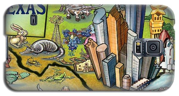 Houston Texas Cartoon Map Galaxy S5 Case
