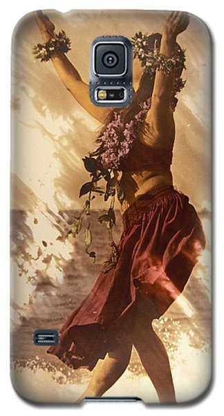 Hula On The Beach Galaxy S5 Case by Himani - Printscapes