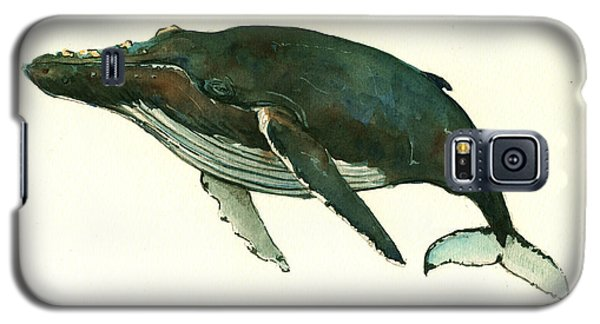 Whale Galaxy S5 Case - Humpback Whale  by Juan  Bosco