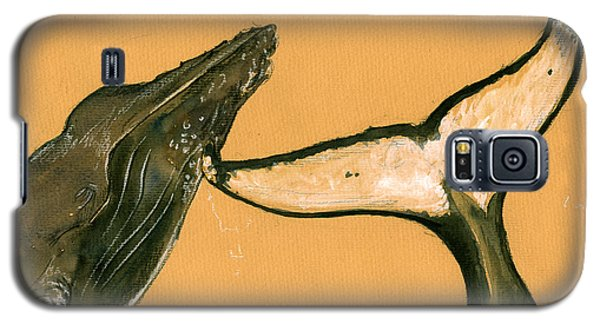 Humpback Whale Painting Galaxy S5 Case by Juan  Bosco