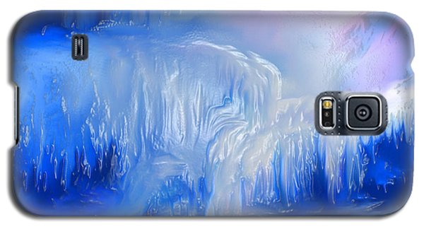 Galaxy S5 Case featuring the painting Ice Falls by Sherri  Of Palm Springs
