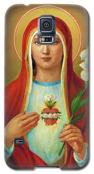 Galaxy S5 Case - Immaculate Heart Of Mary by Svitozar Nenyuk