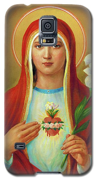 Galaxy S5 Case - Immaculate Heart Of Mary by Svitozar Nenyuk