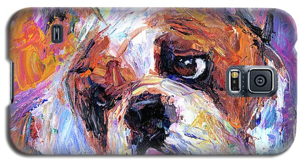 Impressionistic Bulldog Painting  Galaxy S5 Case