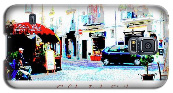 Italian City Street Scene Digital Art Galaxy S5 Case