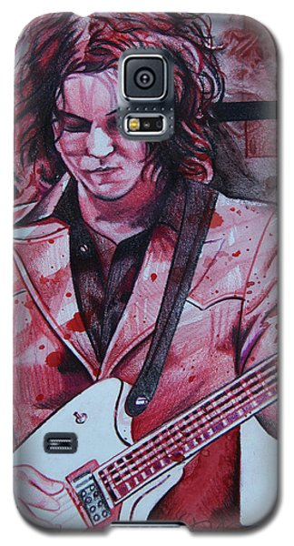 Galaxy S5 Case featuring the drawing Jack White by Joshua Morton