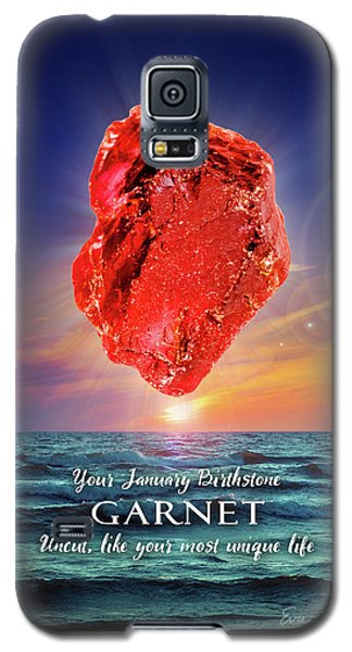 January Birthstone Garnet Galaxy S5 Case